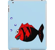 Black and red funny fish  iPad Case/Skin