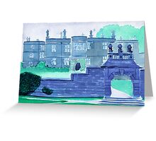Watercolour of Tissington Hall, Derbyshire Greeting Card