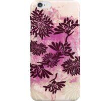Peonies (black on pink) iPhone Case/Skin