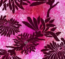 Peonies (black on pink) Sticker