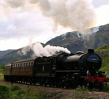 Jacobite Steam Train near Glenfinnan by Rachel Slater