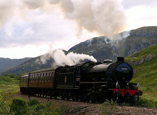 Jacobite Steam Train near Glenfinnan by Rachel Slater