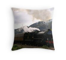 Jacobite Steam Train near Glenfinnan Throw Pillow