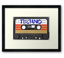 Techno Music Cassette Tape Framed Print