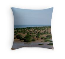Rocks on the foreshore Throw Pillow
