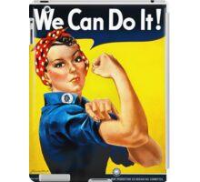 Rosie the Riveter - US World War II Propaganda Poster iPad Case/Skin