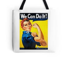 Rosie the Riveter - US World War II Propaganda Poster Tote Bag