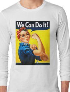 Rosie the Riveter - US World War II Propaganda Poster Long Sleeve T-Shirt