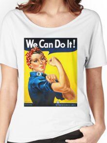 Rosie the Riveter - US World War II Propaganda Poster Women's Relaxed Fit T-Shirt