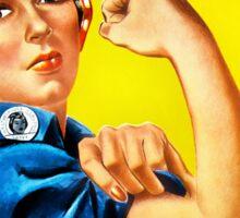 Rosie the Riveter - US World War II Propaganda Poster Sticker