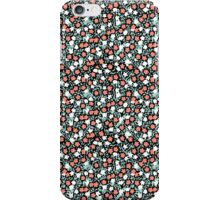 Coral and Mint Floral iPhone Case/Skin
