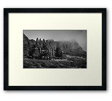 West Wall & Pencil Pines, Walls Of Jerusalem, Tasmania Framed Print