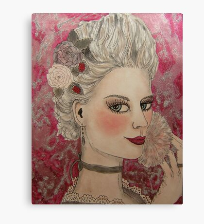 Marie and her Make-up Canvas Print