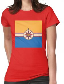 Antique Compass Rose Womens Fitted T-Shirt