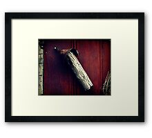 Warning to the Tin Man Framed Print