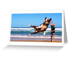 Astro Dog Greeting Card
