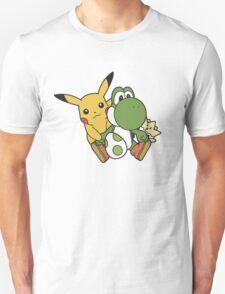 Yoshi, Pikachu and Togepi T-Shirt