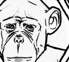 The monkey of wisdom Sticker