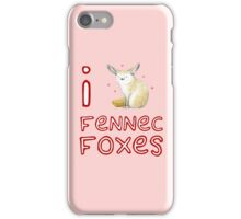 Fennec Fox Love iPhone Case/Skin