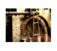 Rock Run Mill Water Wheel Art Print