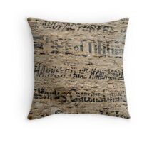 The Writings on the Wall Throw Pillow