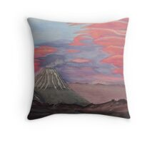 Sunset Over Kronotsky  Throw Pillow