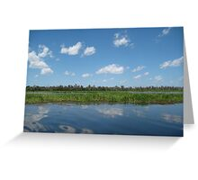 Yellow River Mirror Greeting Card