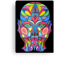 Stained Glass Mirror Canvas Print