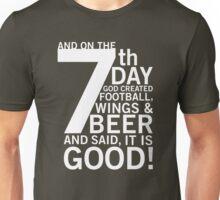 Football, Wings & Beer Unisex T-Shirt