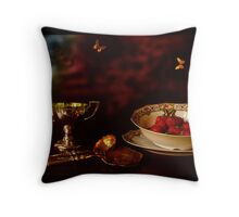 1900 - Strawberry Time Throw Pillow