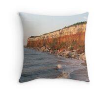Hunstanton Cliffs Throw Pillow