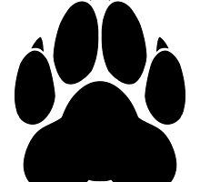 Wolf PawPrint by 8Bit-Paws