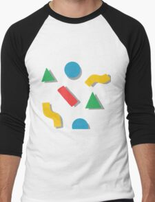 shapes Men's Baseball ¾ T-Shirt