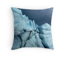 Stormy ice buttresses Throw Pillow