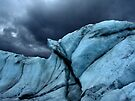 Snail shell ice under storm by LichenRockArts