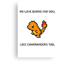 Charmander Pick Up Line Canvas Print