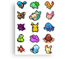 Pixel Pokemon sticker pack Metal Print