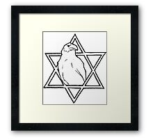 The raven of wisdom Framed Print