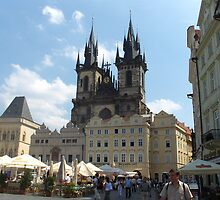 OLD TOWN SQUARE .PRAGUE. by Lilian Marshall