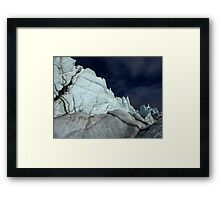 Squiggle wall in midnight sun Framed Print