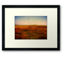 Red Earth Framed Print