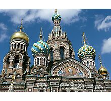 Church of the Spilled Blood, Russia Photographic Print