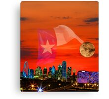Dallas Sunrise Skyline Canvas Print