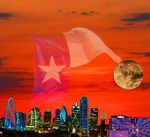 Dallas Sunrise Skyline by Warren Paul Harris