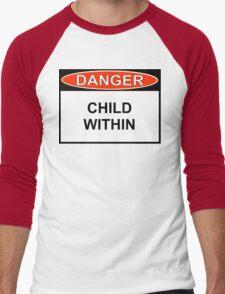 Danger - Child Within Men's Baseball ¾ T-Shirt