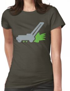 Lawnmower on the grass Womens Fitted T-Shirt