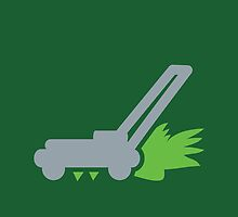 Lawnmower on the grass by jazzydevil
