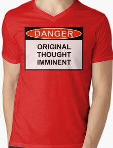 Danger - Original Thought Imminent Mens V-Neck T-Shirt