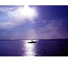 Boat Sunset Photographic Print