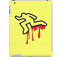 Coroner murder victim outline with dripping blood iPad Case/Skin